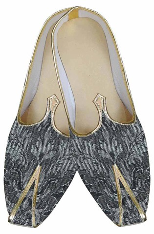 Indian Mens Shoes Gray Indian Wedding Shoes Floral Pattern