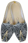 Mens Gray Classic Indian Wedding Shoes