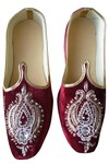 Indian Wedding Shoes For Men Maroon Velvet Designer Wedding Shoes