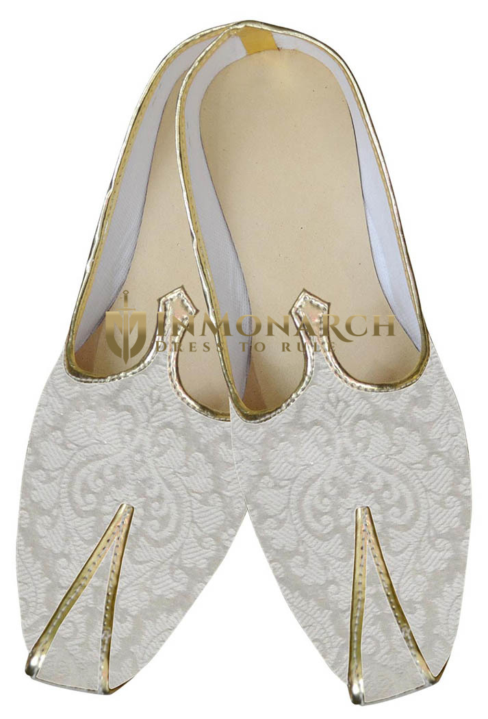 Mens Sherwani Shoes Wedding Cream Juti For Men Shoes