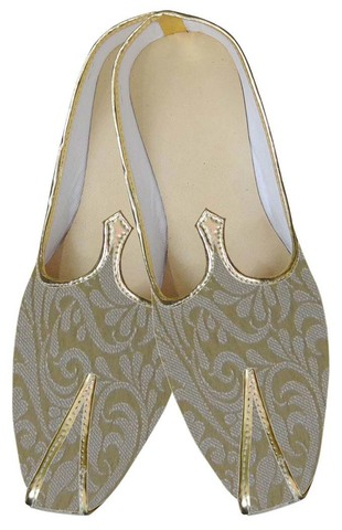 Mens Golden Traditional Wedding Shoes