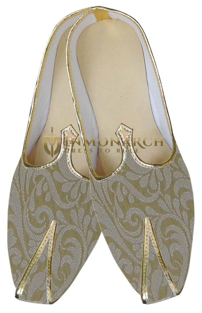 Juti For Men Golden Traditional Wedding Shoes Wedding Shoe For Groom