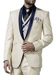 Mens Cream 7 Pc Tuxedo Suit Shawl Lapel One Button