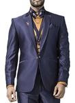 Mens Navy Blue 7 Pc Tuxedo Suit Classic Style One Button