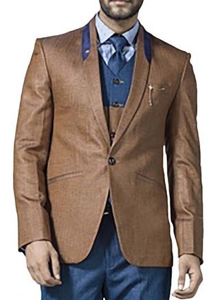 Mens Copper 6 Pc Tuxedo Suit Designer One Button