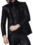 Mens Wine 7 Pc Tuxedo Suit Floral Design One Button