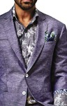Mens Purple 4 Pc Tuxedo Suit Bridegroom Two Button