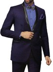 Mens Navy Blue 5 Pc Tuxedo Suit Lovely Two Button