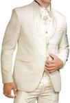 Mens Ivory 9 pc Tuxedo Suit Partywear Designer