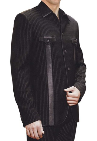 Mens Black 2 pc Tuxedo Suit Fashionable Party Wear