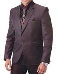 Mens Brown 7 Pc Tuxedo Suit Ethnic