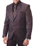 Mens Brown 7 Pc Tuxedo Suit Ethnic