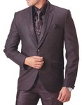 Mens Purple Wine 7 pc Tuxedo Suit Indian Wedding
