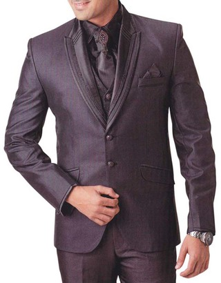 Mens Brown Tuxedo Suit Classic Look 7 pc