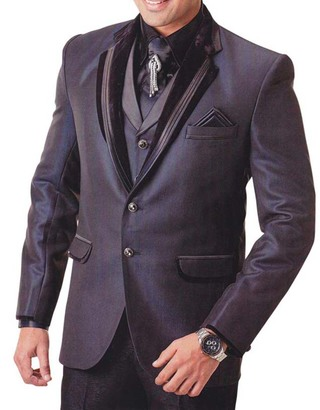 Mens Wine Tuxedo Suit Special Two Button 7 pc
