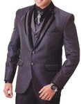 Mens Wine 7 pc Tuxedo Suit Special Two Button