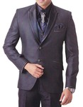 Mens Purple Wine 7 Pc Tuxedo Suit Peak Lapel