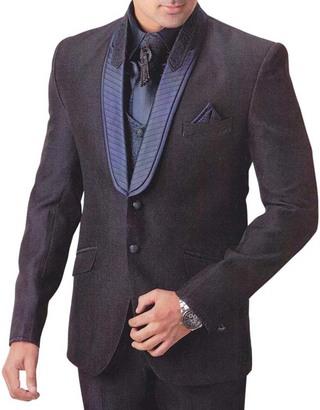 Mens Black Tuxedo Suit Wonderful 7 pc