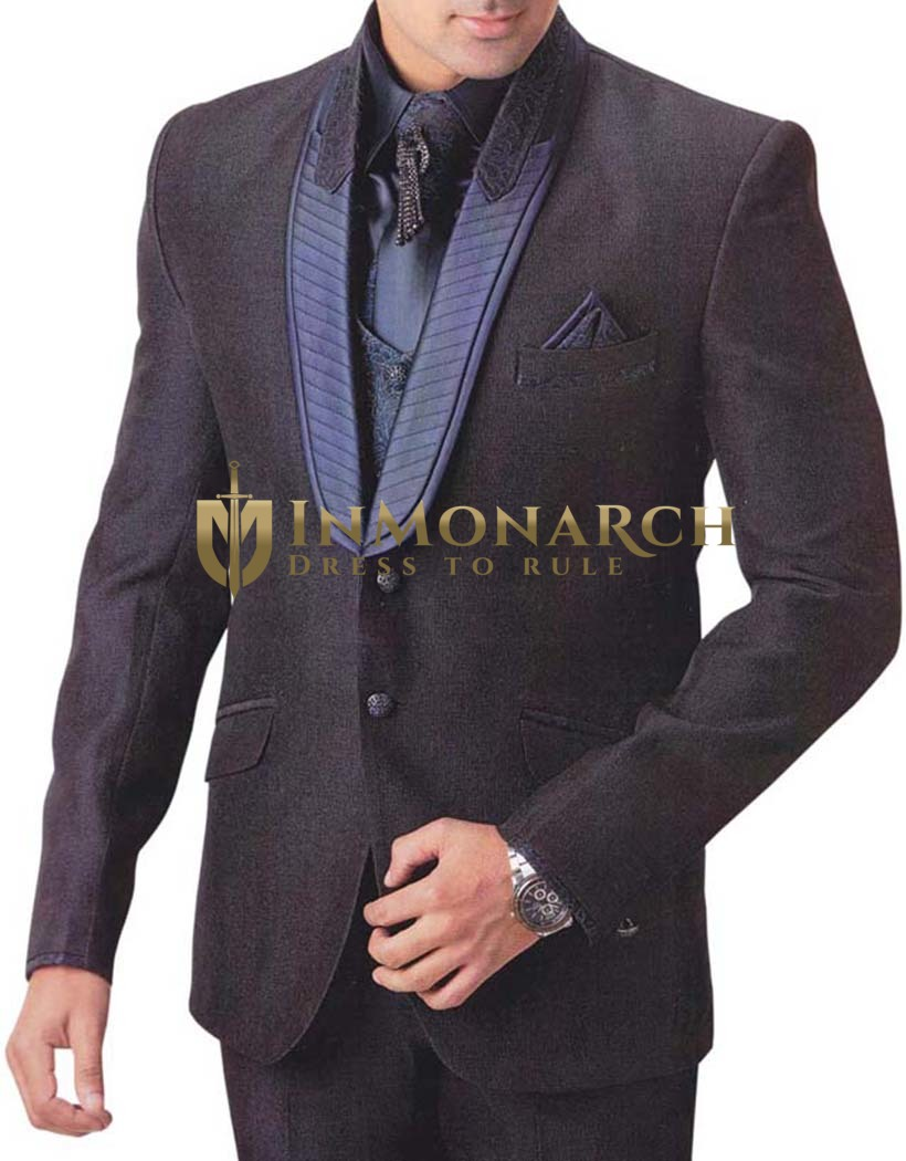 Mens Black Tuxedo Suit 7 pc Shawl Lapel