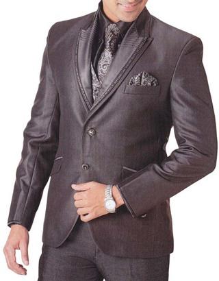Mens Brown Tuxedo Suit Amazing 7 pc