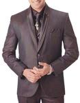 Mens Brown Tuxedo Suit Eye Catching Groom 7 pc