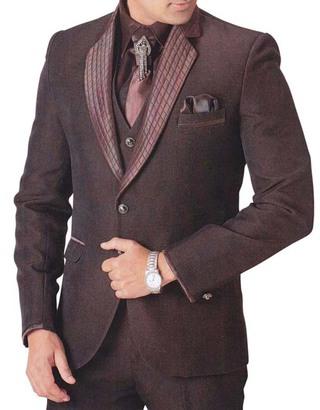 Mens Brown Tuxedo Suit Marvelous Groom 7 pc