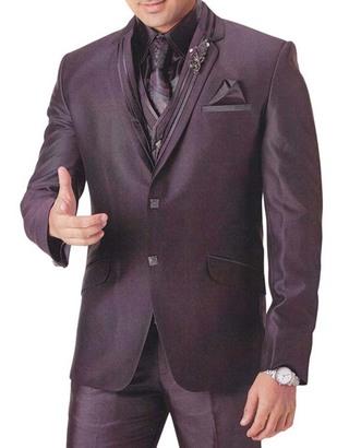 Mens Dark Brown Tuxedo Trendy Look 7 pc