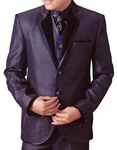 Mens Purple Wine Tuxedo Suit 6 pc Notch Collar