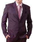Mens Wine Tuxedo Suit 5 pc Shawl Lapel