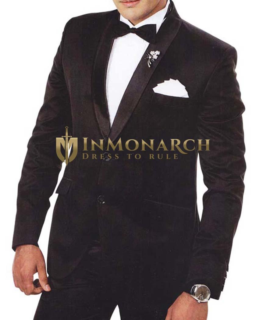 Mens Black Tuxedo Suit 6 pc Shawl Lapel