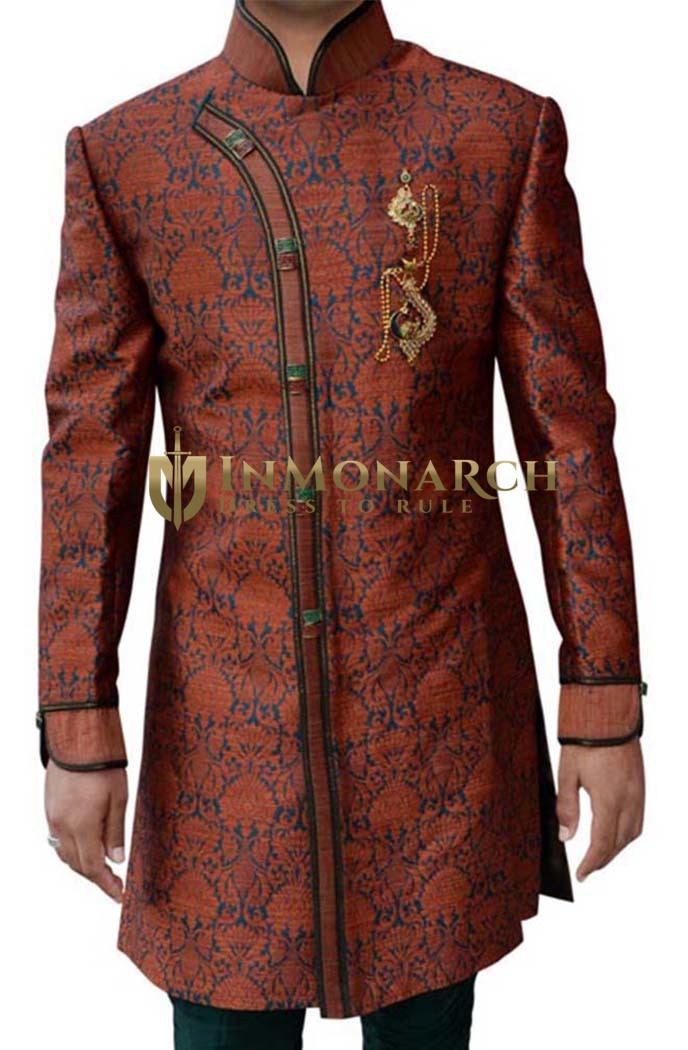 Mens Salmon 3 Pc Superb Indowestern Designer