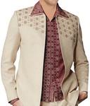 Mens Ivory Partywear Suit Most Wonderful Stylish 3 Pc