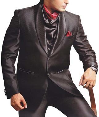 Mens Wine Party Wear Suit Cocktail  4 pc Suit