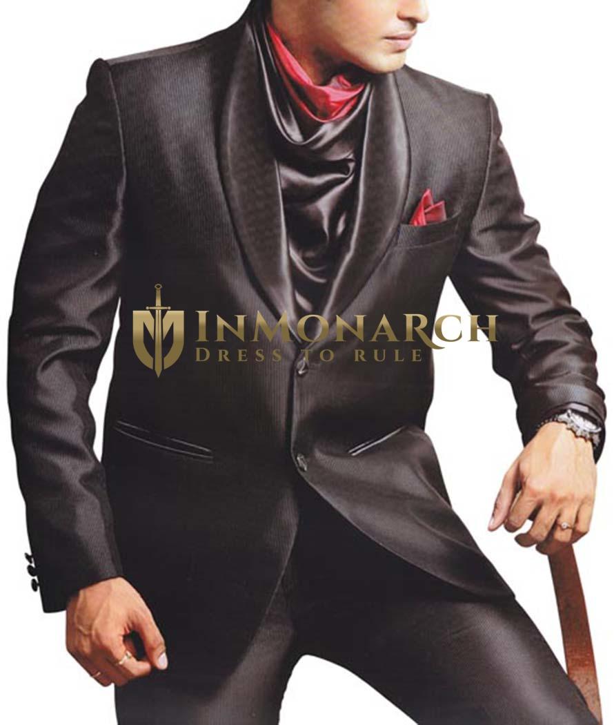 Mens Purple gray Party Wear Suit 4 pc Suit Cocktail
