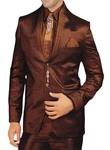 Mens Copper Polyester 7 Pc Tuxedo Suit Wedding