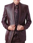Mens Brown 7 pc Tuxedo Suit Two Button