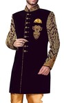 Sherwani for Men Blue Indowestern Wedding Sherwani Embroidered