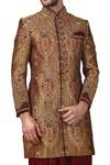 Sherwani for Men Tan Color Indowestern Prince Look Sherwani kurta