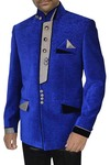 Mens Blue Velvet 3 Pc Jodhpuri Suit Designer