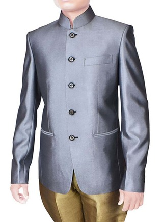 Mens Gray 2 Pc Wedding Suits with Breeches