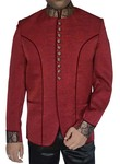 Mens Maroon Velvet 2 Pc Jodhpuri Suit