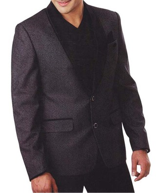 Mens Gray 5 Pc Tuxedo Suit Two Button