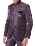 Mens Purple Wine 4 pc Tuxedo Suit Designer Groom