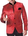 Mens Red Velvet 3 pc Tuxedo Suit Jodhpuri