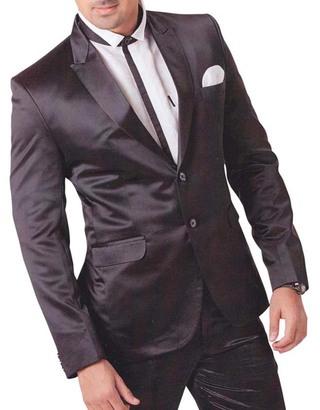 Mens Black 4 pc Tuxedo Suit Reception Two Button