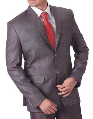 Mens Gray 4 pc Tuxedo Suit Notch Lapel