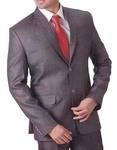 Mens Gray 4 pc Tuxedo Suit Notch Lapel