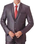 Mens Gray 5 pc Tuxedo Suit Notch Collar