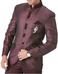 Mens Brown 4 Pc Tuxedo Suit Luxurious