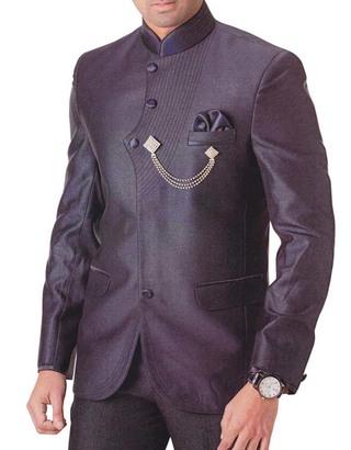 Mens Purple Wine 4 pc Tuxedo Suit Wedding
